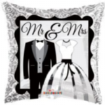 "MR & MRS BALLOON 18""  15087-18"